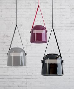 mona lamp by lucie koldova for brokis suspends with lanyards