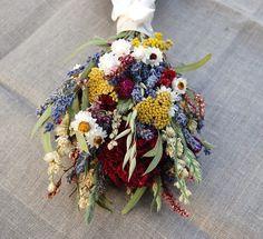 Romantic Montana Flower Girl Posie  Lavender and Burgundy