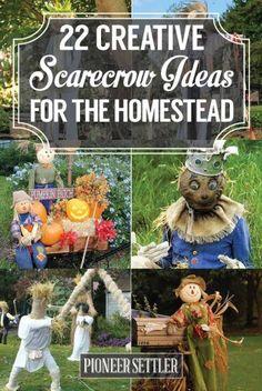 22 Creative Scarecrow Ideas for the Homestead