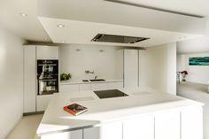 bulthaup kitchen in Alpine White matt lacquer. Bulthaup B1, Bulthaup Kitchen, Alpine White, Kitchen Images, Corian, House Extensions, Luxury Kitchens, Kitchen Design, Solid Wood