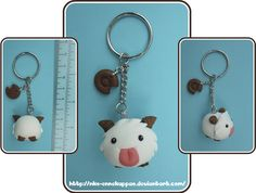 League of Legends - Kawaii Poro Keychain by Nko-ennekappao.deviantart.com on @deviantART