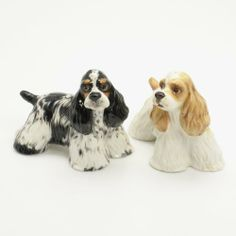 American Cocker Spaniel Dog Ceramic Figurine Salt Pepper Shaker 00044 Ceramic Handmade Dog Lover Gift Collectible Home Decor Art and Crafts by Cocker Spaniel - madamepOmm -. $59.00. American Cocker Spaniel Dog Lover Ceramic Original Handmade Hand Paint Salt and Pepper Shaker Figurine Ceramic Home Decor Collectibles  Made of ceramic porcelain high fired interior apply clear under-glaze, food safe painted with attention hand painted acrylic paint then apply clear gloss pro...
