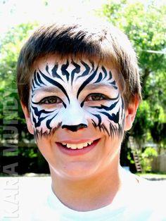 Zebra face paint idea