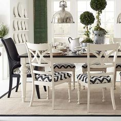 """Custom Dining 76"""" Rectangle Table by #bassettfurniture"""
