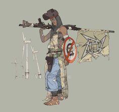 "rhubarbes: ""ArtStation - Post Apocalyptic Character designs, by Calum Watt """