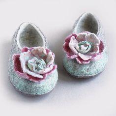 Women felted slippers felt slippers women eco by VaivaIndre