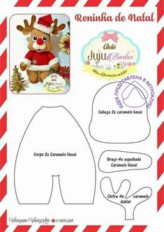 New Diy Christmas Felt Templates Ideas Easy Christmas Ornaments, Felt Christmas Decorations, Felt Ornaments, Diy Christmas Gifts, Christmas Art, Christmas Stockings, Sewing Crafts, Sewing Projects, Felt Doll Patterns