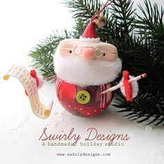 Ho Ho Ho... Our 2015 handmade Swirly Christmas ornament collection will be online Monday December 7th, at 9am EST at www.swirlydesigns.com