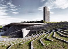 Istanbul mosque is surrounded by terraced landscaping