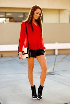 Hapa Time - a California fashion blog by Jessica - new fashion style - 2014 fashion trends: Red, White and... Black