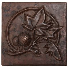 Copper Tile (TL861) Tree & Ferns Design