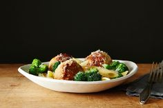 Chicken Sausage Meatball and Broccoli Pasta Bowl recipe: Just two pans!