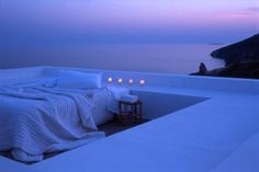 Milos, Greece, sleeping outdoors..wow!