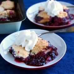 Berry Cobbler- made mine with Oregon blackberries and strawberries.