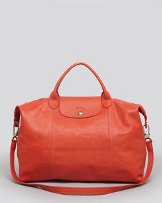 Longchamp Satchel - Le Pliage Cuir Large Handbags - Premium Designers -  Bloomingdale s b1be6a8b8227a