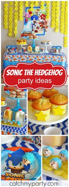Check out this awesome Sonic the Hedgehog birthday party! See more party ideas at Catchmyparty.com!