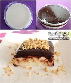 Çikolata Soslu Sakızlı Muhallebi Tarifi