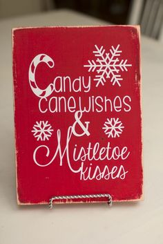 Candy Cane wishes. Christmas Sign.