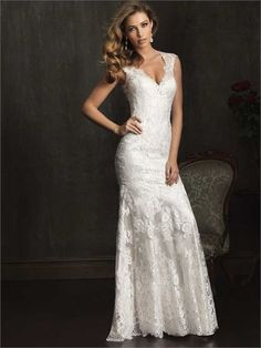 Allure Bridals, 9068 Size 8  Wedding Dress | Still White