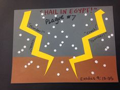 Plague #7 - Lesson & Craft Plagues Of Egypt, 10 Plagues, Egypt Crafts, Children's Bible, Preschool Bible, Bible Lessons For Kids, Memory Verse, Object Lessons, Sunday School Crafts