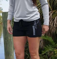Women's Signature Series Black Board Shorts from Country Shore Outfitters