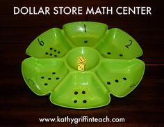 Dollar Store Math Center