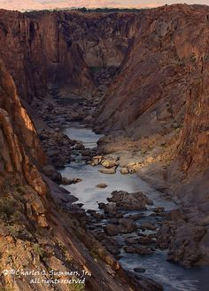 The Orange River close to the Augrabies Waterfall, Northern Cape, South Africa.