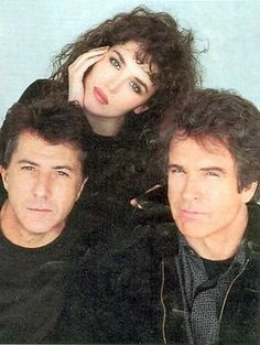 Isabelle Adjani (Dustin Hoffman [L] and Warren Beatty [R]
