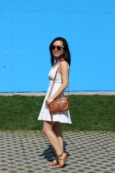 2cda75626f White Jersey Dress + Brown Accessories - Happy Pursuits