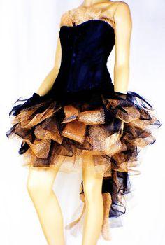 Black Gold Burlesque Moulin Rouge Mardi Gras Costume TuTu Dress Up Skirt 6-16 | eBay