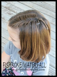 Girly Do's By Jenn: Waterfall Fishbone Braid - and this website has lots of great hair tutorials!