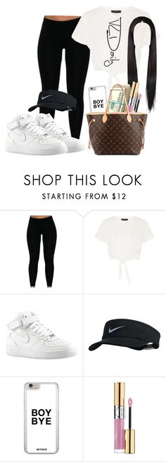 """""""06.09.16"""" by fashionismylife654 ❤ liked on Polyvore featuring New Look, NIKE, Yves Saint Laurent and Louis Vuitton"""