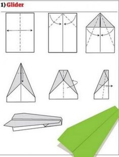 Paper plane: a simple manual and 12 other variants - Paper plane: 2 simple instructions and a total of 13 great variants Informations About Papierflieger - Papier Kind, Yarn Crafts, Paper Crafts, Crafts To Do When Your Bored, Previous Papers, Airplane Design, Budget Planer, Aircraft Design, Paper Plane