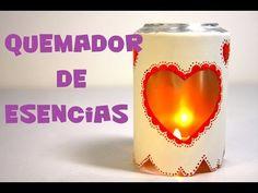 QUEMADOR DE ESENCIAS CON LATA DE REFRESCO RECICLADA - YouTube