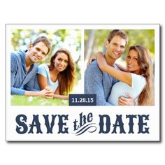 Rustic Western Save the Date Postcards