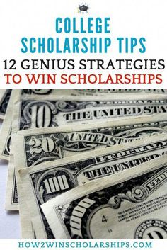 Find Winning College Scholarship Tips Right HERE 12 Genius College Scholarship Tips to Win More Money for School - College Scholarships Tips Grants For College, Financial Aid For College, College Planning, Scholarships For College, College Life, College Checklist, College Dorms, College Hacks, Education College