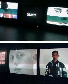 "spring1999: "" "" ""repeat (1995-2005)"" by raf simons video-installation at fondazione pitti discovery foundation, florence "" the video-installation ""repeat"" by raf simons shows an imaginary world through a series of silent videos. these screens..."