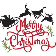 Silhouette Design Store: Merry Christmas Santa's Sleigh – Jutta web – Christmas Cricut Christmas Ideas, Christmas Stencils, Christmas Vinyl, Merry Christmas Santa, Christmas Templates, Christmas Printables, Christmas Projects, Christmas Decorations, Christmas Design