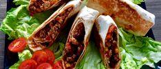 Tortilla, burrito Burritos, Bruschetta, Fresh Rolls, Tortilla Burrito, Dinner Recipes, Food And Drink, Mexican, Ethnic Recipes, Diet