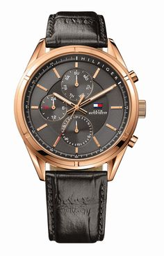 ROSE-GOLD MENS WATCH HEADLINES TOMMY HILFIGER WATCHES NEW SS15 COLLECTION