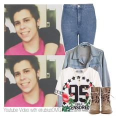 """Youtube Video with elrubiusOMG"" by sere-i-love-you ❤ liked on Polyvore featuring Topshop, American Apparel, Kenneth Cole, YouTubers, youtube, rubius and elrubiusomg"