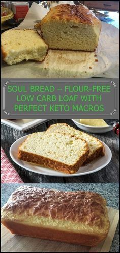 Soul Bread is a gluten-free and flour-free bread with only 1 g net carbs. Topped with healthy fats (grass-fed butter, olive oil, cream cheese), Soul Bread has a perfect keto ratio (high fat, moderate protein, and super low carb).