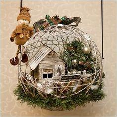 Esferas mágicas de hilos. La decoración perfecta para tu hogar en Navidad.