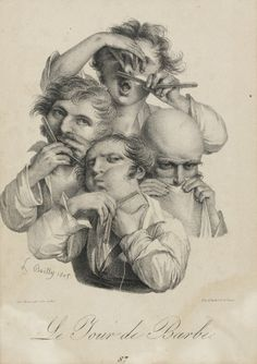 Le jour de barbé by Louis Léopold Boilly