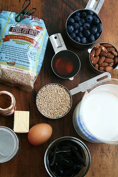 Steel Cut Oats and blueberry bake