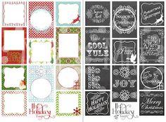 The Scrap Shoppe: Printable Christmas Tags (2 Sets)