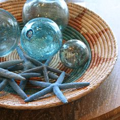 Beachy accessories can be added to any windowsill or atop the vanity or toilet for a fun bathroom addition.
