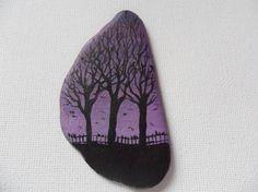 726e653a00a Purple sky trees Original acrylic miniature painting on Purple Sky, Slate,  Miniature, Whiteboard