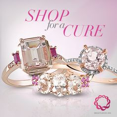 Shop for a Cure! For every Pink Gold purchase in October, we're donating 10% of the proceeds to BreastCancer. org