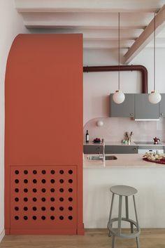 *미니멀리즘 아파트 인테리어 [ Colombo and Serboli Architecture ] Barcelona apartment Kitchen Interior, Kitchen Design, Barcelona Apartment, Design Apartment, Dark Interiors, Contemporary Interior Design, Interiores Design, Interior Architecture, House Design
